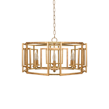 Gold Drum Chandelier by Worlds Away | Fig Linens and Home