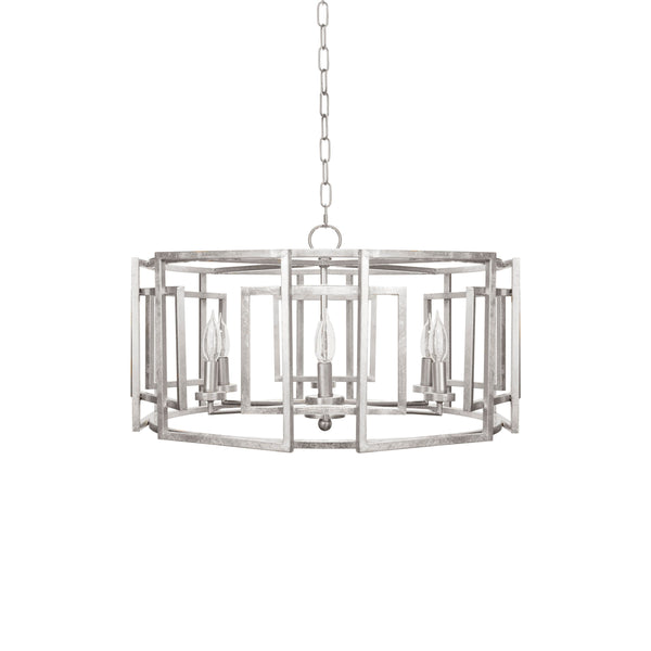 Silver Drum Chandelier by Worlds Away | Fig Linens and Home