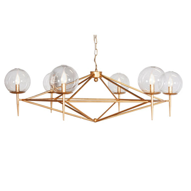 Gold 6 Arm Chandelier by Worlds Away | Fig Linens and Home
