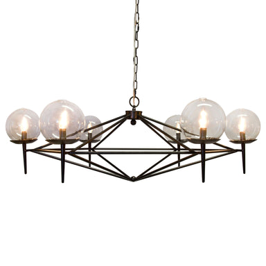 Black Chandelier by Worlds Away | Fig Linens and Home