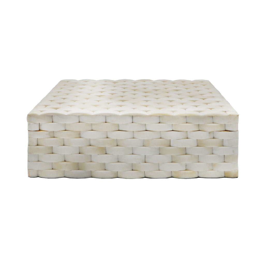 Milford Natural Bone Decorative Box by Worlds Away | Fig Linens and Home
