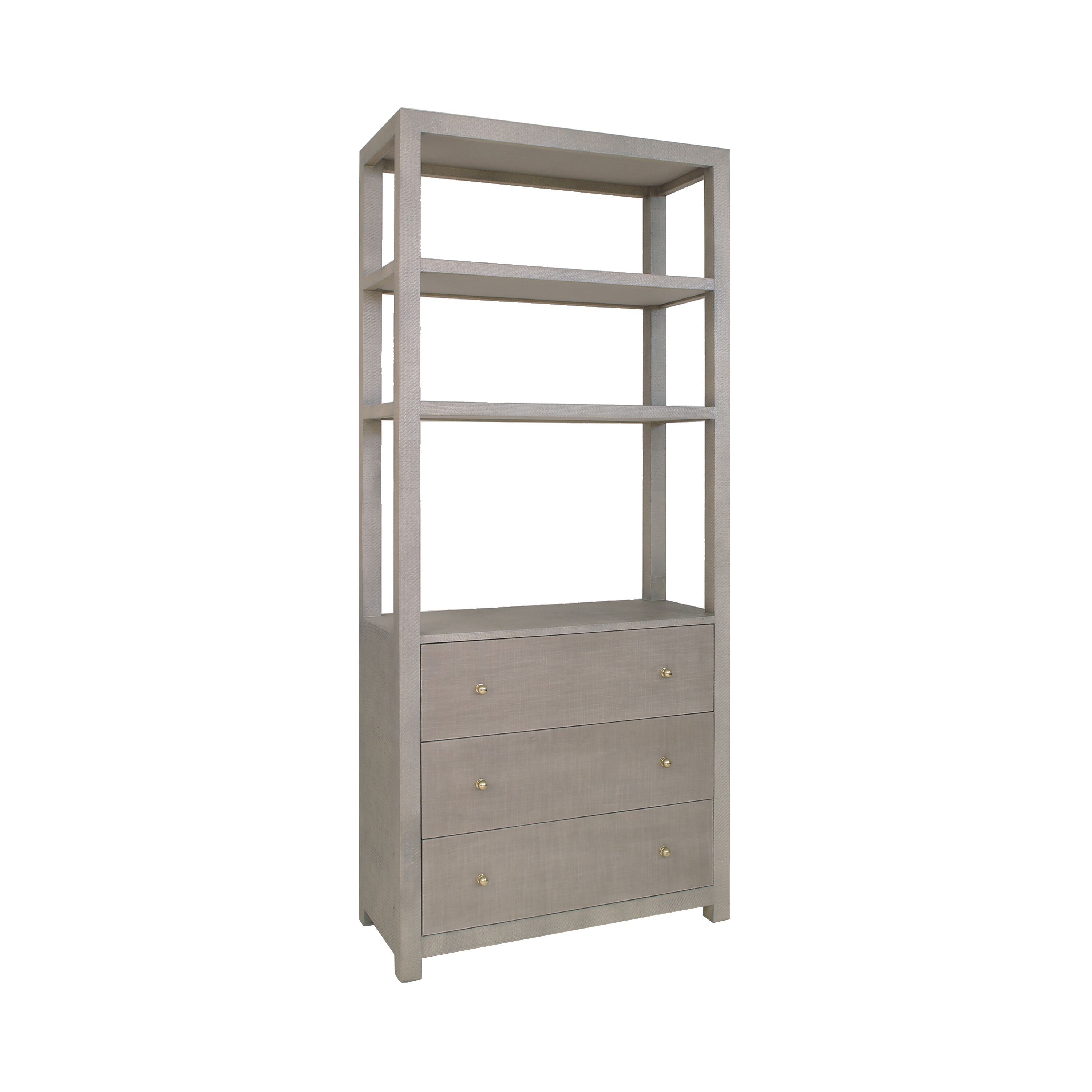 Silas Grey Etagere by Worlds Away