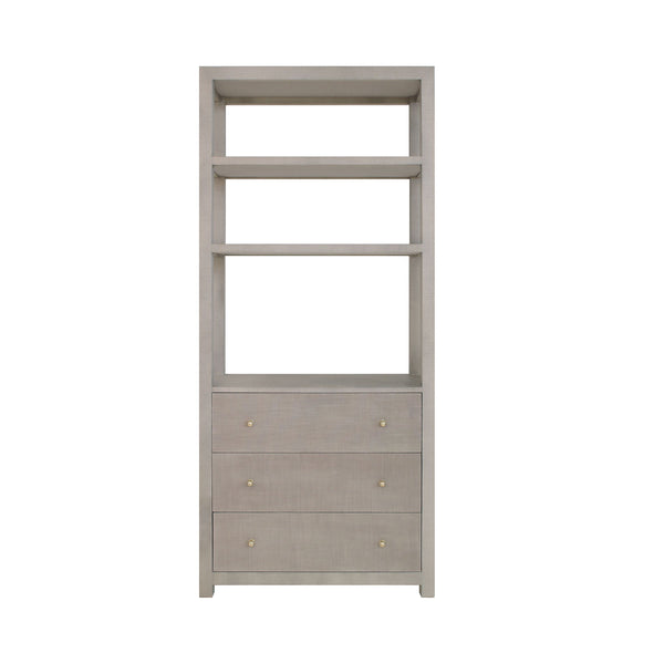 Silas Grey Etagere with Drawers by Worlds Away | Fig Linens and Home