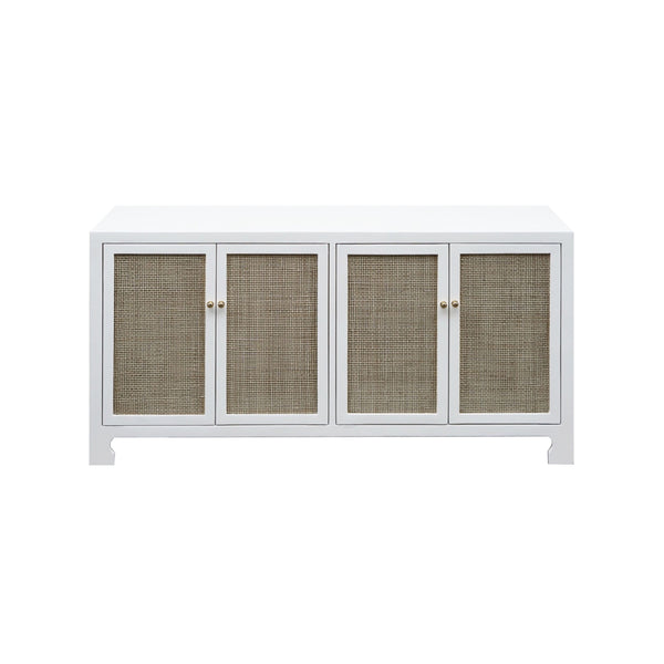 White Cabinet with Cane Doors by Worlds Away | Fig Linens