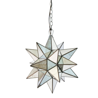Medium Antique Mirror Star Chandelier by Worlds Away | Fig Linens and Home