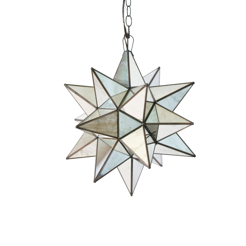 Large Antique Mirror Star Chandelier by Worlds Away | Fig Linens and Home