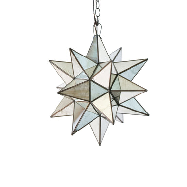Small Antique Mirror Star Chandelier by Worlds Away | Fig Linens and Home
