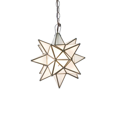 Small Frosted Glass Star Chandelier by Worlds Away | Fig Linens and Home
