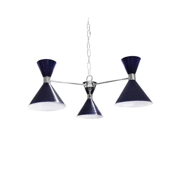 Sullivan Navy & Nickel Chandelier by Worlds Away | Fig Linens and Home