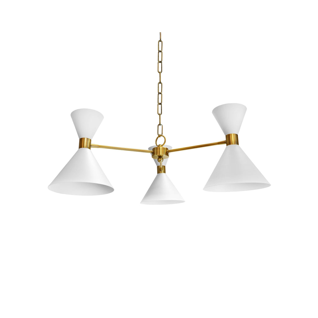 Sullivan White & Brass Chandelier by Worlds Away | Fig Linens
