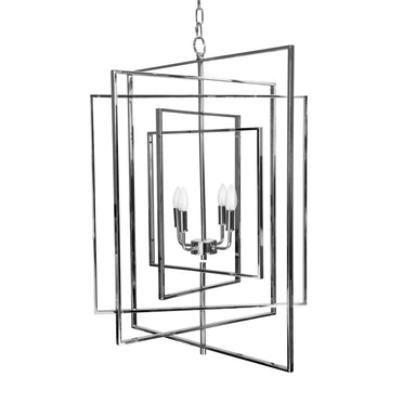Whitmore Nickel Rotating Chandelier by Worlds Away | Fig Linens