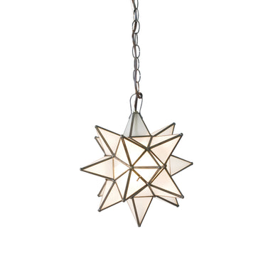 Medium Frosted Glass Star Chandelier by Worlds Away | Fig Linens and Home