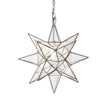 Small Clear Glass Star Chandelier by Worlds Away | Fig Linens and Home