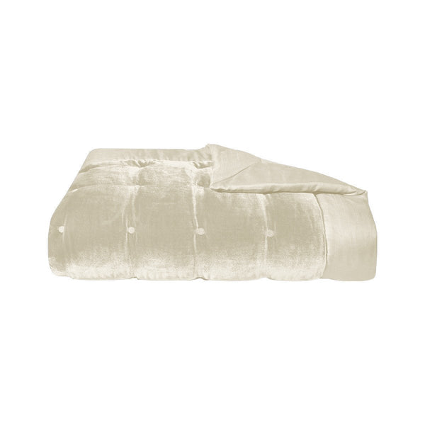 Cocon Pierre Silk Velvet Coverlet by Yves Delorme | Fig Linens