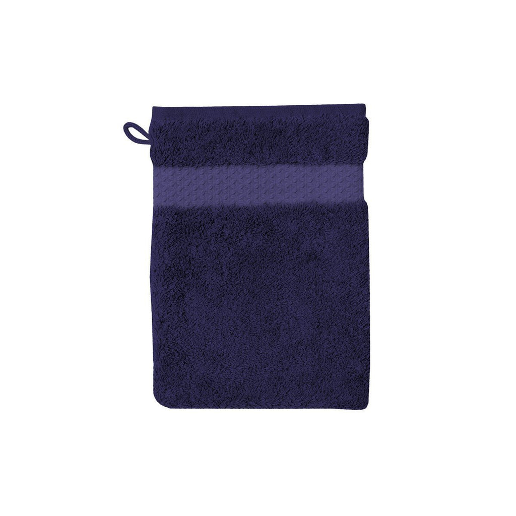 Fig Linens - Yves Delorme Etoile Marine - Navy Blue Wash Mit
