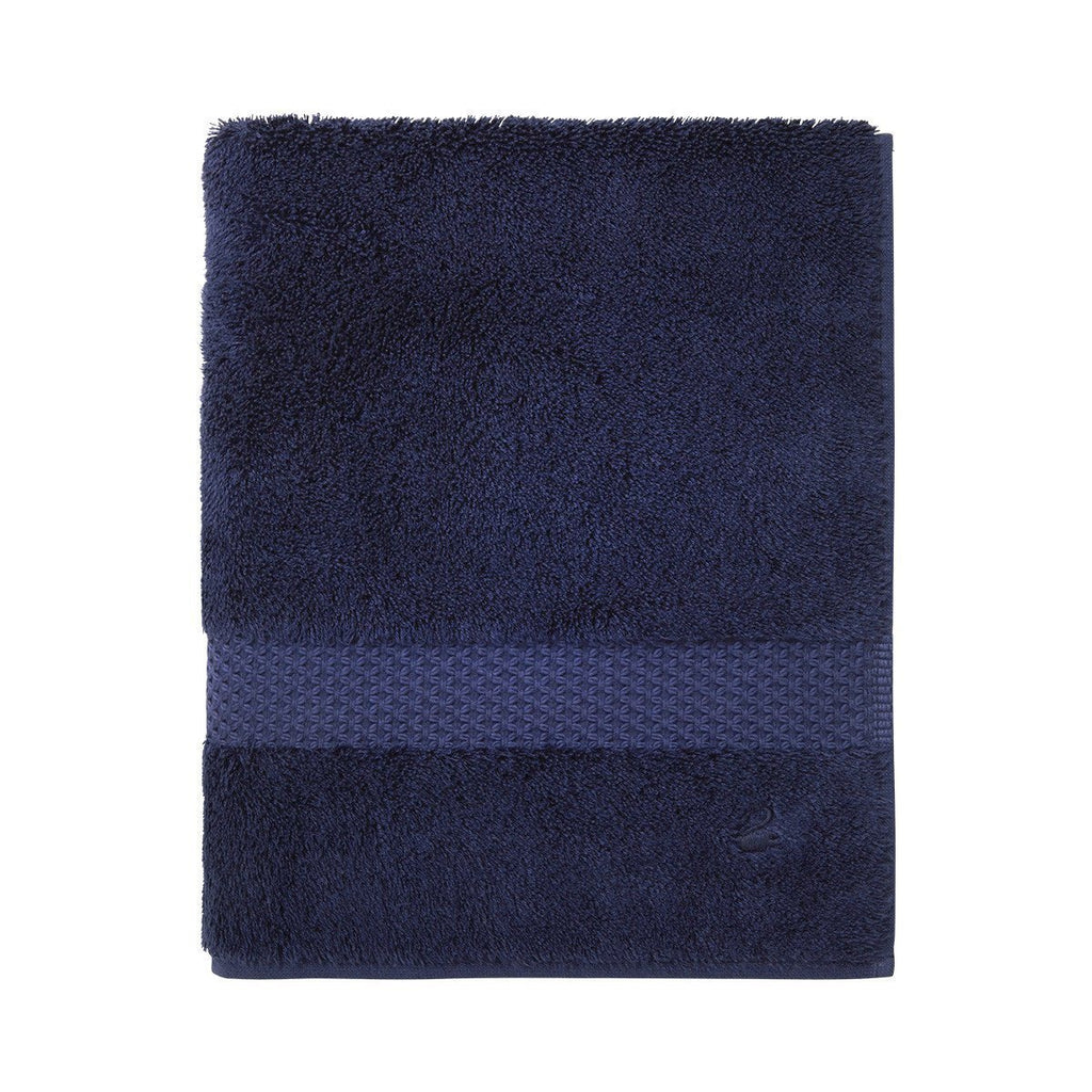 Fig Linens - Yves Delorme Etoile Marine - Navy Blue Guest Towel