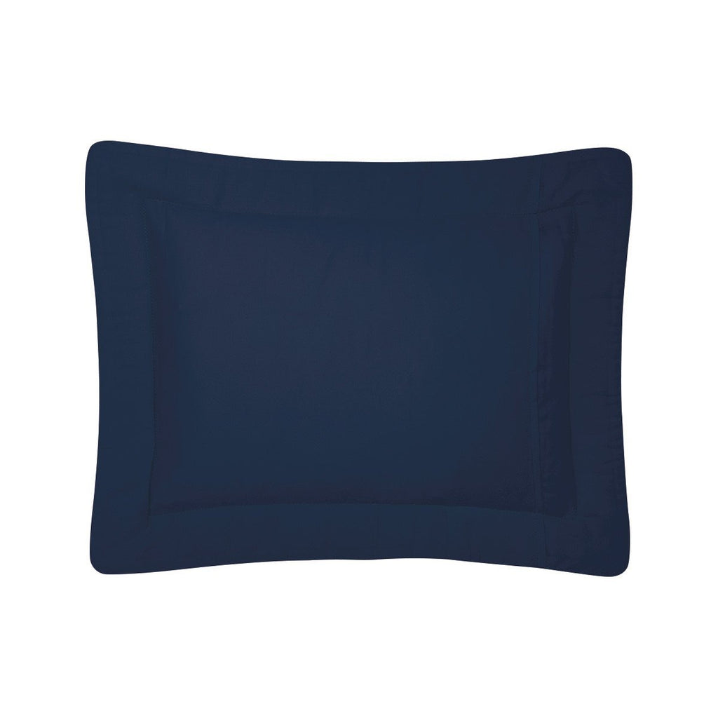Fig Linens - Yves Delorme Triomphe Marine Bedding - Navy Blue Quilted Shams
