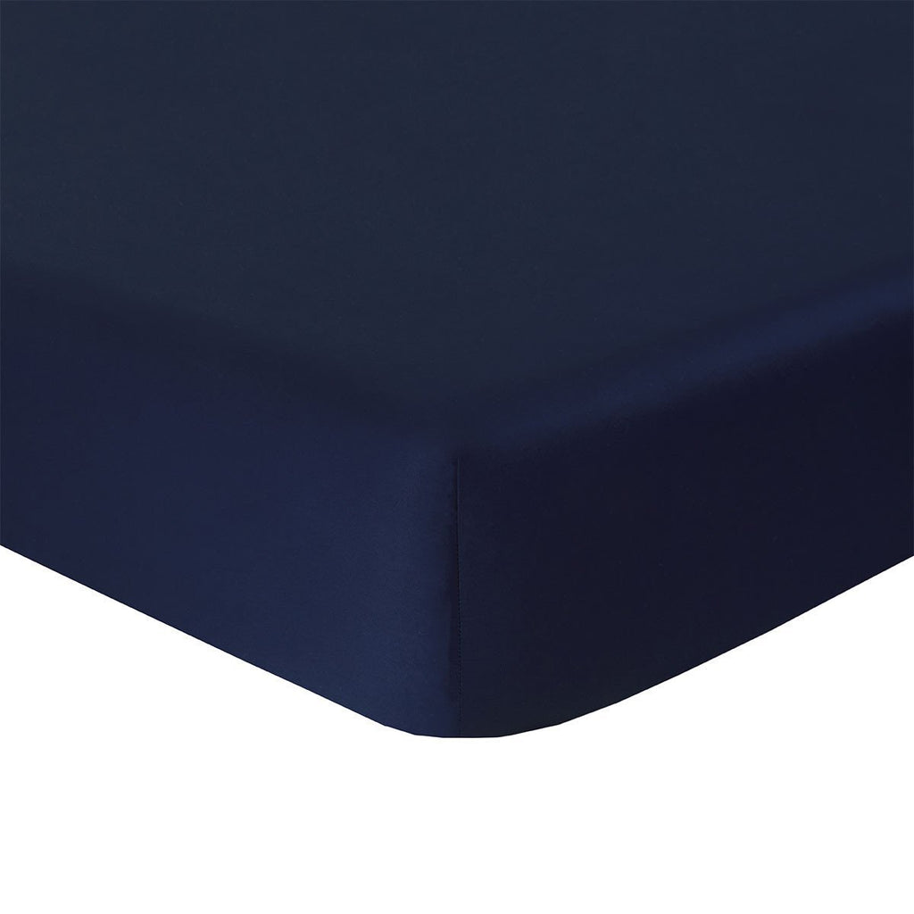 Fig Linens - Yves Delorme Triomphe Marine Bedding - Navy Blue Fitted Sheet