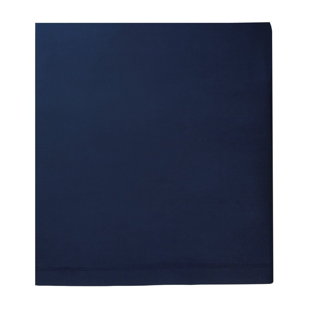 Fig Linens - Yves Delorme Triomphe Marine Bedding - Navy Blue Flat Sheet