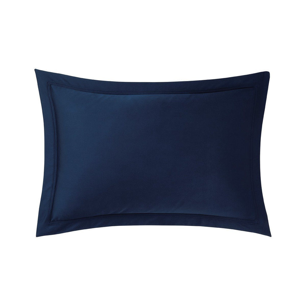 Fig Linens - Yves Delorme Triomphe Marine Bedding - Navy Blue Shams