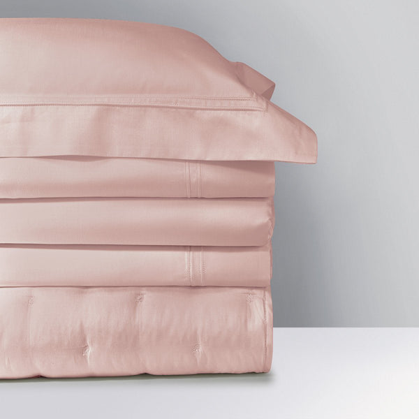 Fig Linens - Triomphe Thé Rose Bedding by Yves Delorme