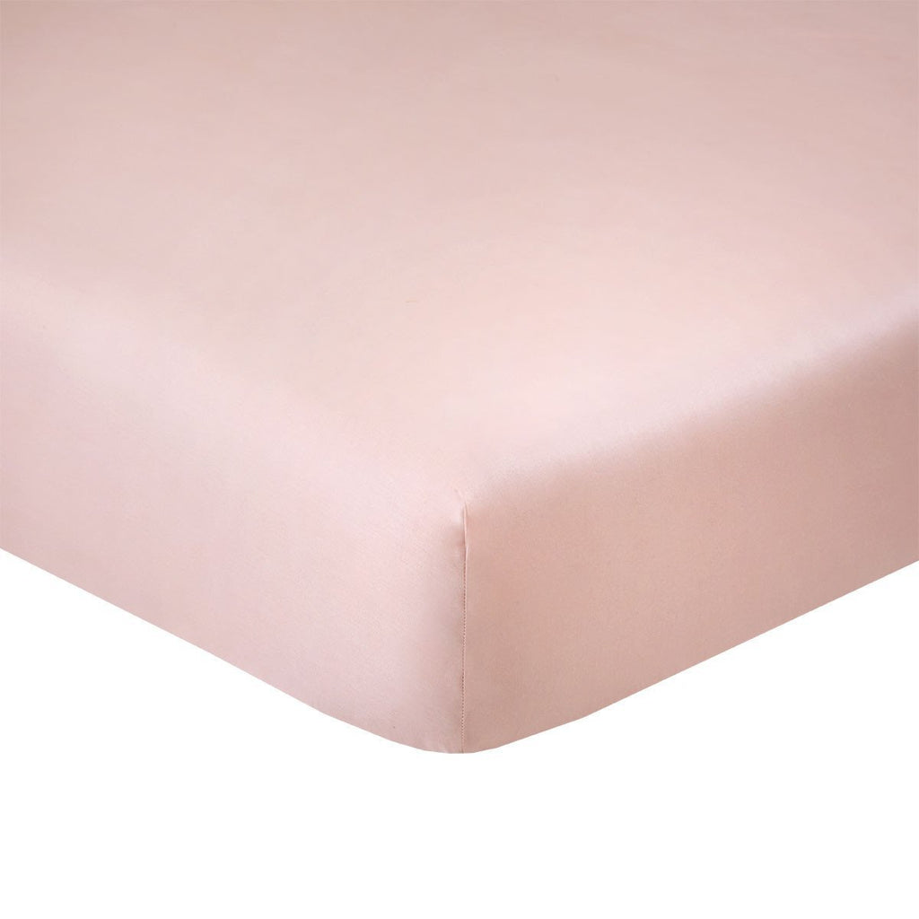 Fig Linens - Triomphe Thé Rose Bedding by Yves Delorme - Pink Fitted Sheet