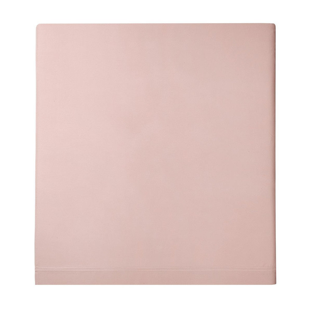Fig Linens - Triomphe Thé Rose Bedding by Yves Delorme - Pink Flat sheet