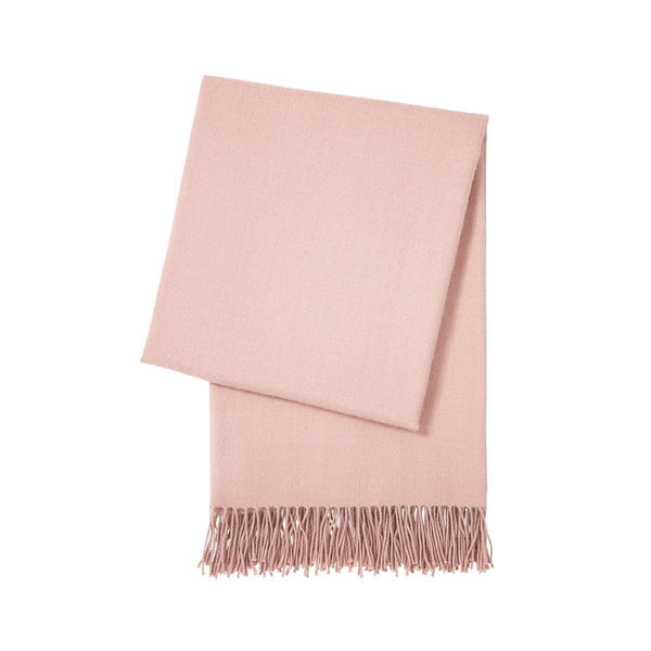Triomphe Thé Rose Pink Throw Blanket by Yves Delorme | Fig Linens