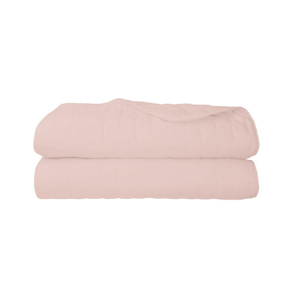 Triomphe Thé Rose Quilted Coverlet by Yves Delorme | Fig Linens