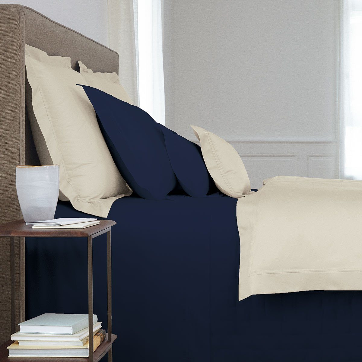 Triomphe Marine Bedding by Yves Delorme | Fig Linens
