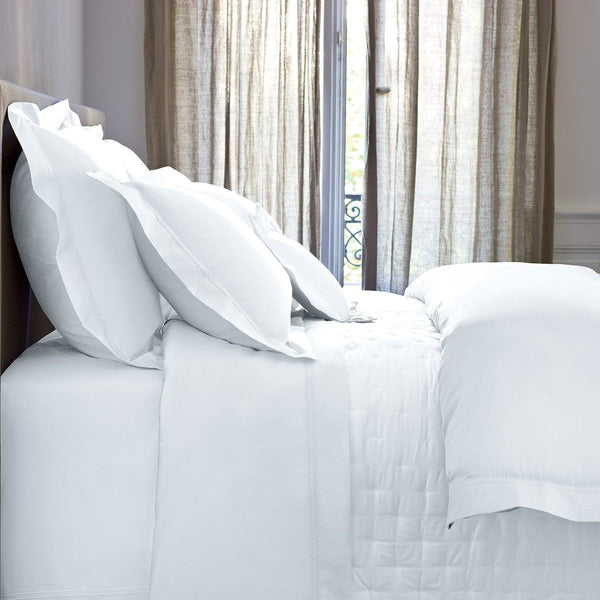 Triomphe Blanc Quilted Coverlet by Yves Delorme | Fig Linens