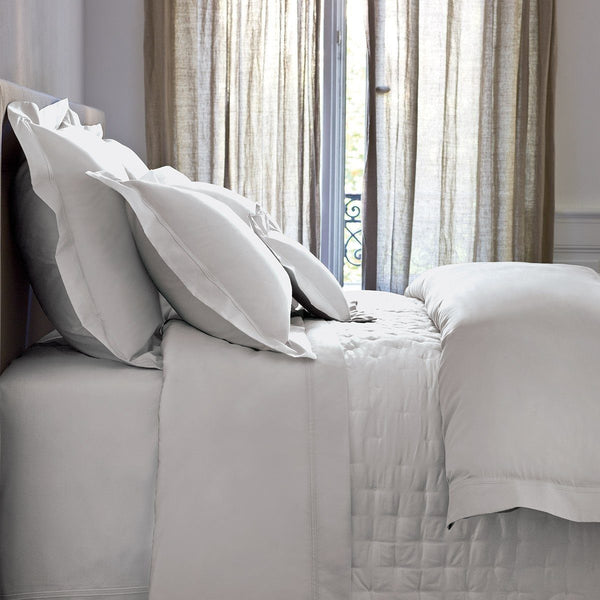 Triomphe Silver Bedding by Yves Delorme | Fig Linens