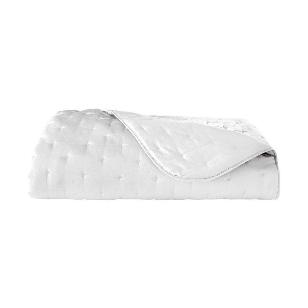 Fig Linens - Yves Delorme Triomphe Blanc Bedding - White Quilted Coverlet
