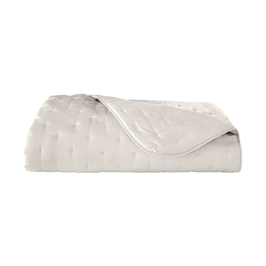 Triomphe Nacre Ivory Quilted Coverlet by Yves Delorme | Fig Linens