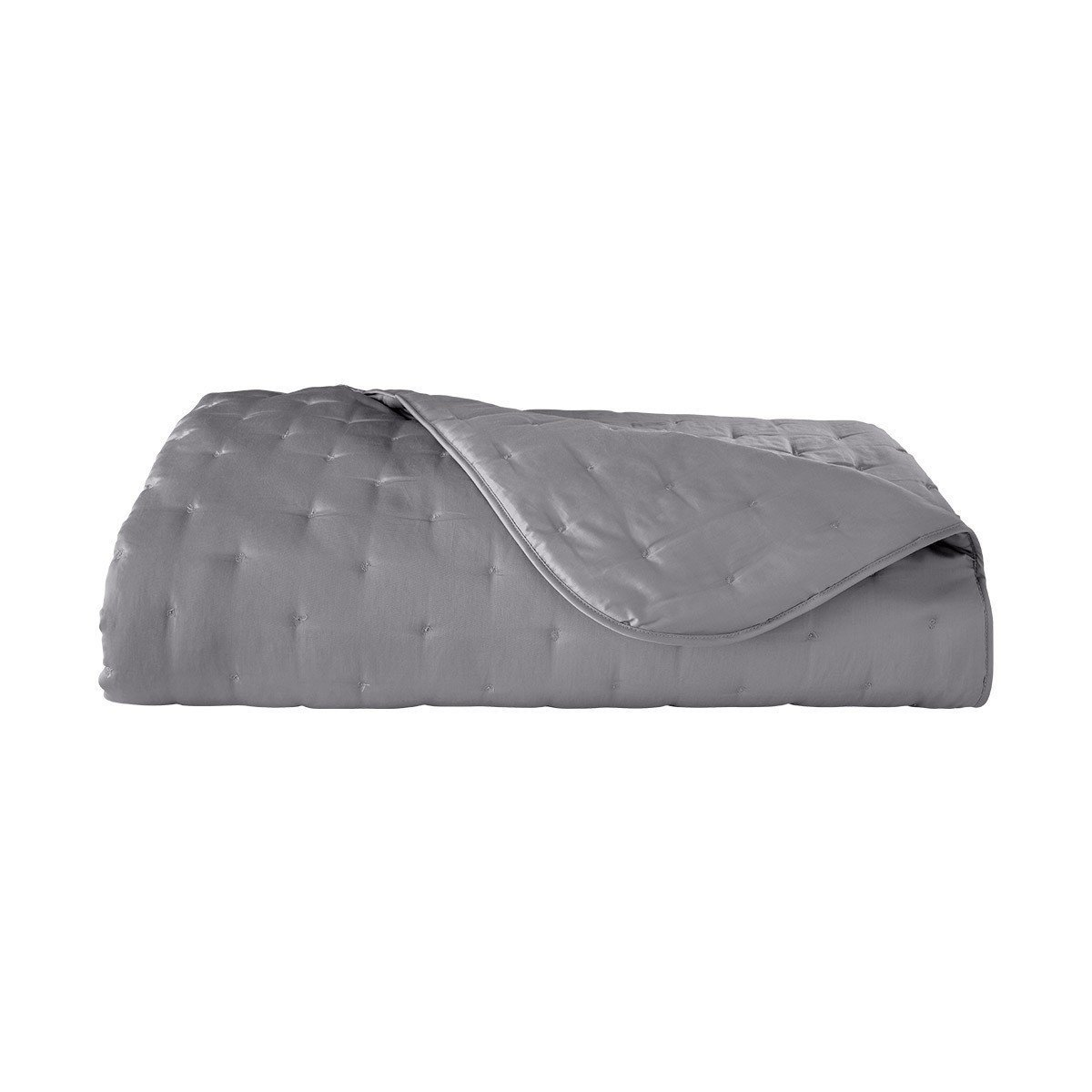 Triomphe Platine Quilted Coverlet by Yves Delorme | Fig Linens