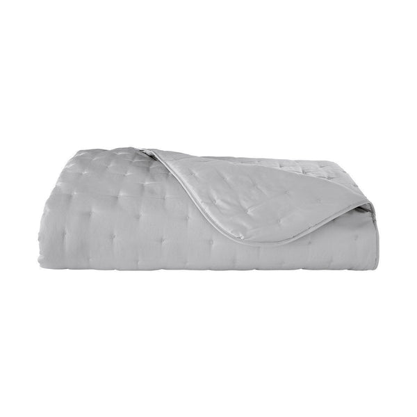 Triomphe Silver Quilted Coverlet by Yves Delorme | Fig Linens
