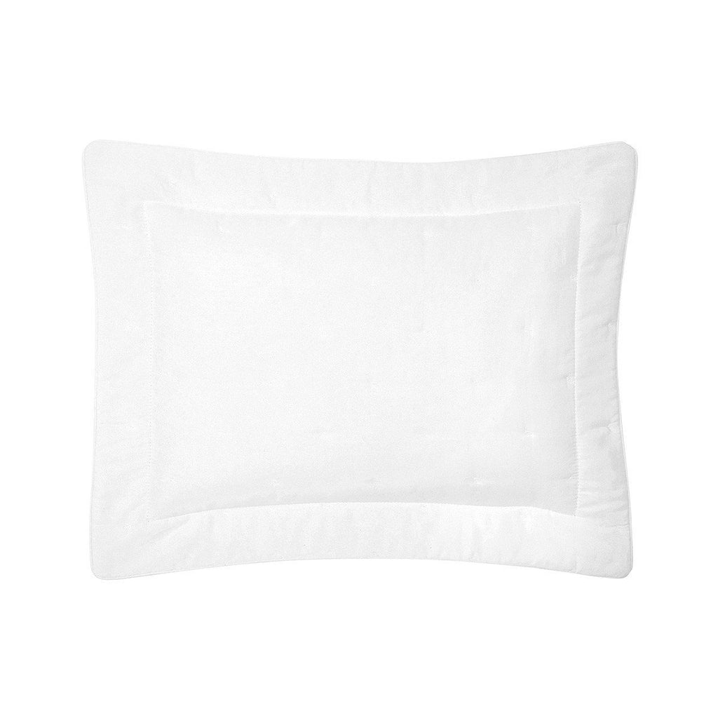 Fig Linens - Yves Delorme Triomphe Blanc Bedding - White Quilted Sham