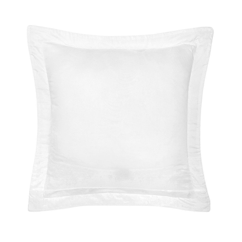 Fig Linens - Yves Delorme Triomphe Blanc Bedding - White Quilted Euro Sham