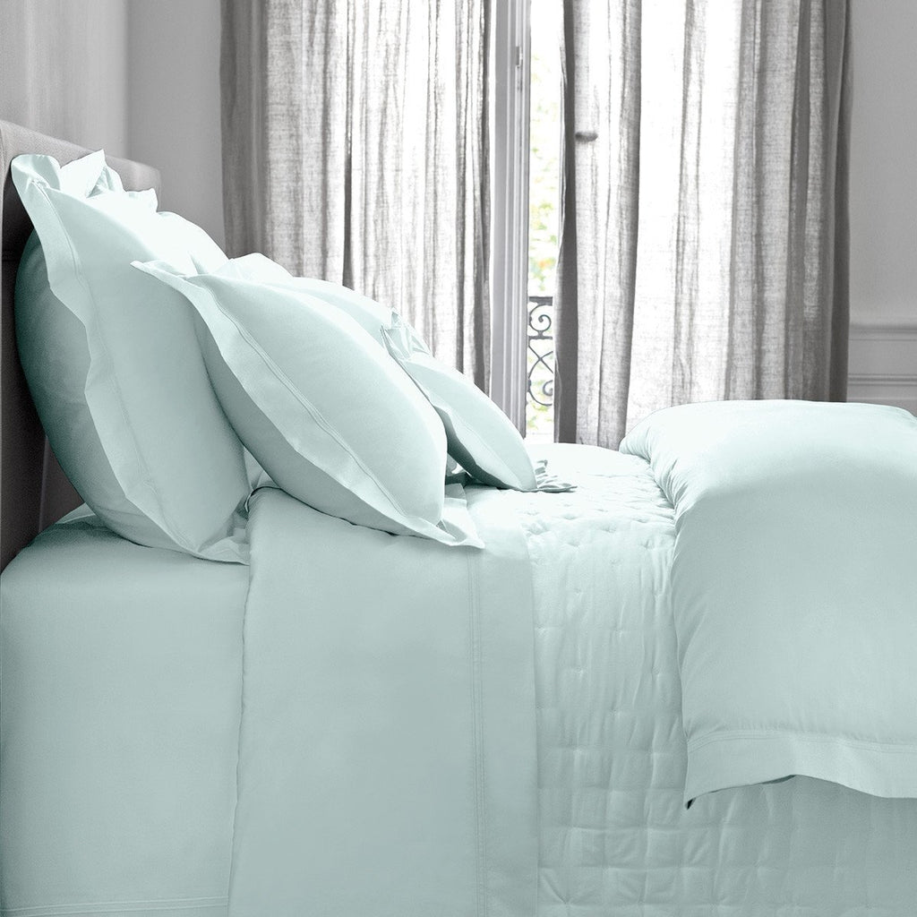 Triomphe Aqua Bedding by Yves Delorme | Fig Linens