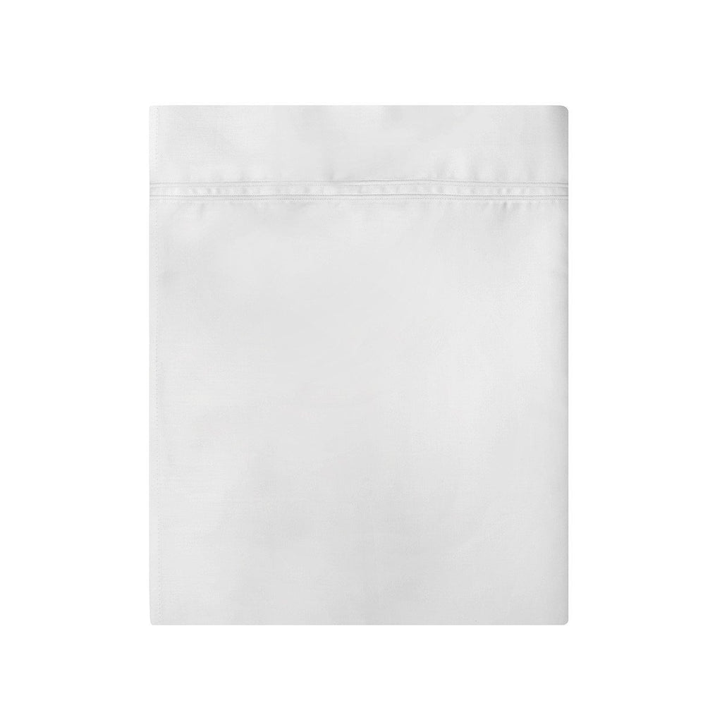Fig Linens - Yves Delorme Triomphe Blanc Bedding - White Flat Sheet