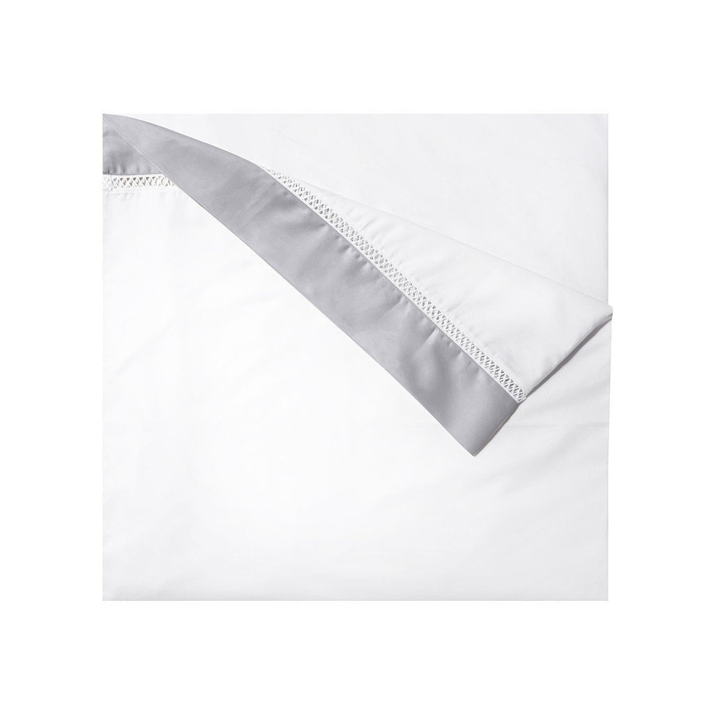Fig Linens - Walton Silver Bedding by Yves Delorme - Duvet