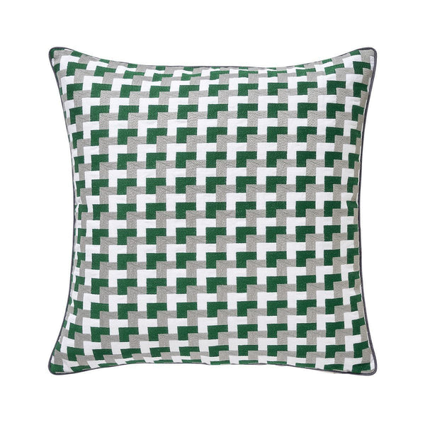 Zelliges Emeraude Green  Pillow by Iosis | Fig Linens and Home