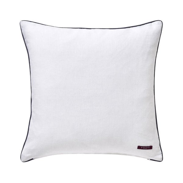 Fig Linens - Zelliges Decorative Pillow by Iosis - White back