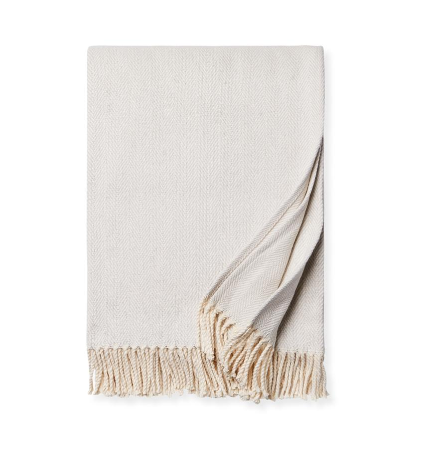 Fig Linens - Sferra Celine Tin throw blanket