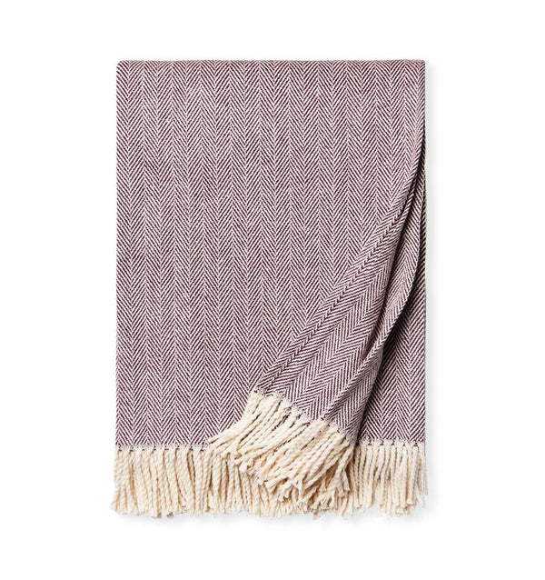 Celine Wine Throw by Sferra - Shop Cotton Throws at Fig Linens