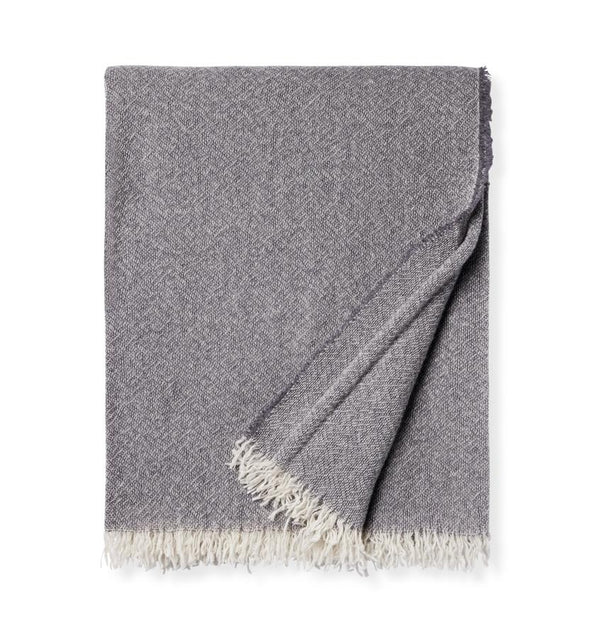 Ciarra Charcoal Cashmere Throw by Sferra | Fig Linens and Home