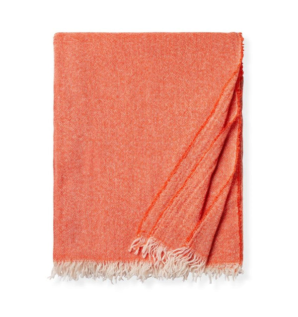 Ciarra Tangerine Cashmere Throw by Sferra | Fig Linens and Home