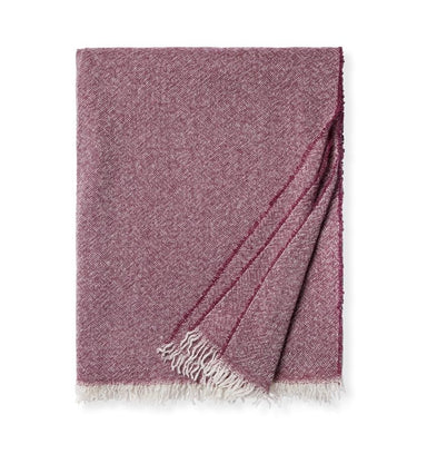 Ciarra Wine Cashmere Throw by Sferra | Fig Linens and Home