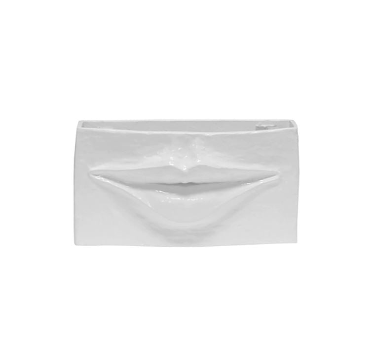Lips White Decorative Container by Worlds Away