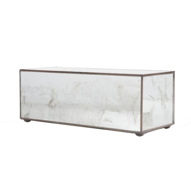 Antique Mirrored Decorative Box by Worlds Away | Fig Linens
